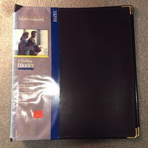 "Hazel 1"" D-Ring Binder Leatherlike w/Brass Edges"